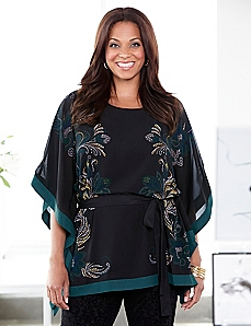 Morpho Butterfly Poncho
