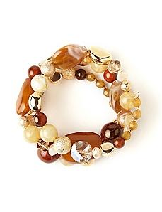Earthglow Coil Bracelet