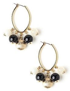 Metallic Cluster Earrings
