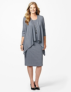 Ribbed Knit Jacket Dress