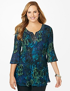 Lilly Pad Pleated Top