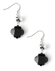 Drop Spade Earrings