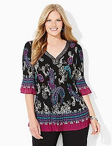 Paisley Pleated Top