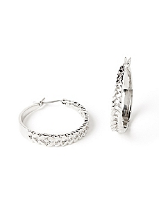 Circle & Arrow Hoop Earrings