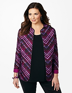 Diamond Plaid Reversible Jacket