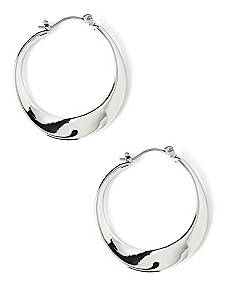 Ocean Wave Hoop Earrings