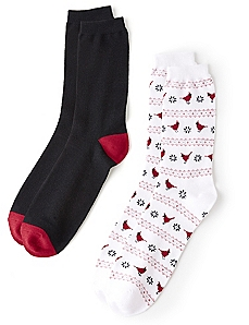 Winter Cardinal 2-Pack Socks