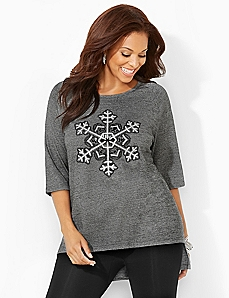 Shimmering Snowflake Tunic