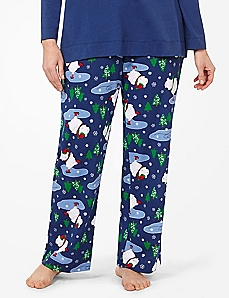 Skating Polar Bears Sleep Pant