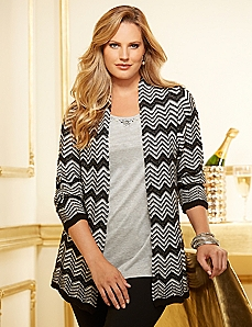 Cozy Chevron Cardigan
