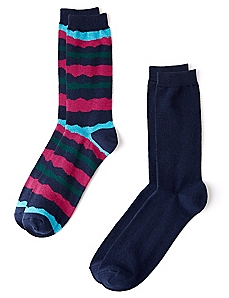 Stripes & Navy 2-Pack Socks