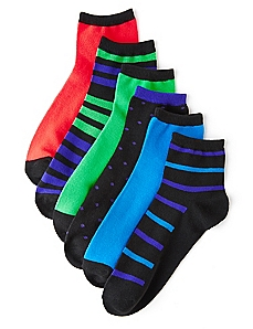 Vibrant In Neon 6-Pack Socks