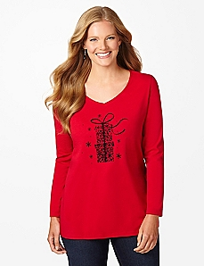 Glitter Gifts Long-Sleeve Tee