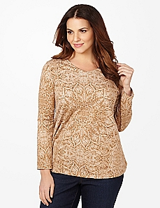 Lace Snowflake Long-Sleeve Tee
