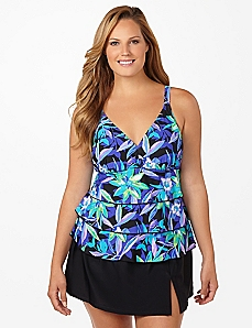 Moonlight Bloom Swim Top