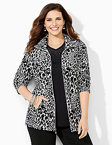 Snow Leopard Velour Jacket