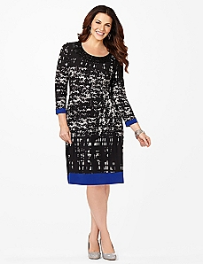 Geo Contrast Shift Dress