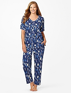 Dreamland Tree Capri Pajamas