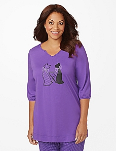 Cats In Love Sleep Tunic