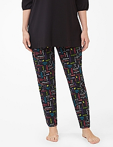 Cocktail Hour Slim Leg Sleep Pant