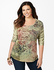 Pressed Flower Top