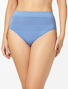 Periwinkle Shadow Stripe Seamless Hi-Cut Brief