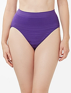 Purple Shadow Stripe Seamless Hi-Cut Brief