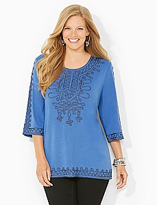 Swirling Soutache Top