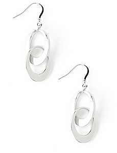 Contrast Oval Earrings