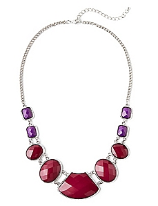 Beveled Statement Necklace