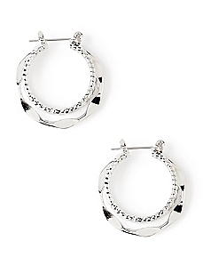 Trifecta Hoop Earring