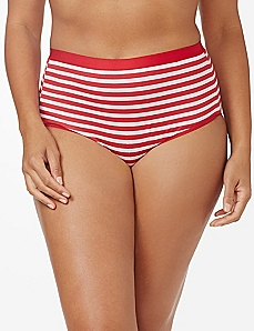 Red Stripe Cotton Full Brief