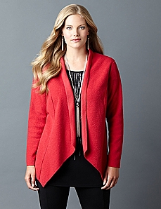 AnyWear Cozy Crepe Cardigan
