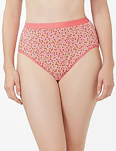 Pink & Green Dot Cotton Hi-Cut Brief