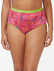 Pink Cocktail Hour Cotton Full Brief