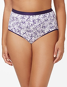 Purple Winter Berry Cotton Full Brief