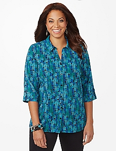 Vibrant Herringbone Shirt