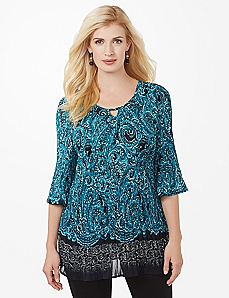 Swirlscroll Pleated Blouse