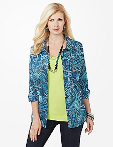 Aquatic Paisley Shirt