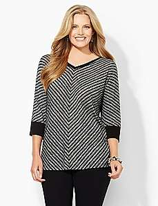 Chevron V-Neck Top