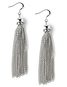 Tinsel Tassel Earrings