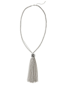 Dazzle Tassel Necklace