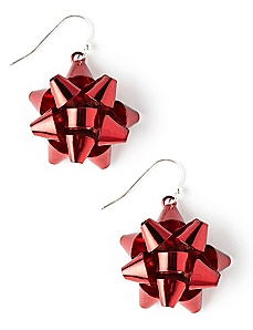 Red Bow Earrings