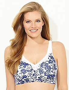 Be Bold Floral No-Wire Cotton Comfort Bra