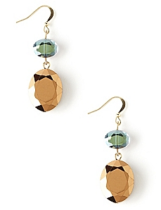 Beveled Drop Earrings