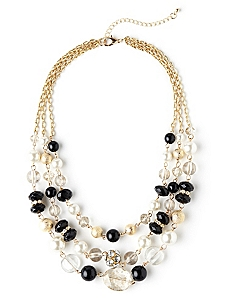 All That Glitters 3-Row Necklace