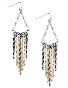 Tassel 3-Tone Earrings