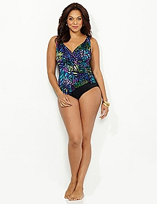 Jeweltone Wrap Swimsuit