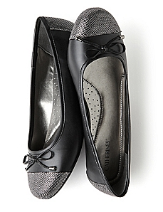 Silver Toe Ballet Flat