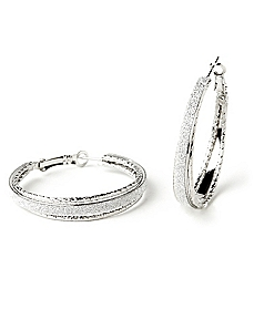 Splash Of Sparkle Hoops